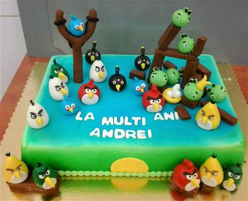 "Tort tematic ""Angry birds"""