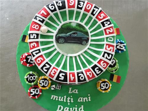 Tort tematic ruleta 3D